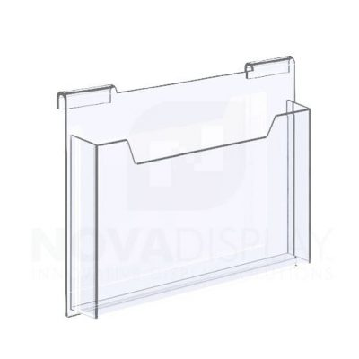 18HALD-8511L Hook-on Acrylic Leaflet Dispenser – Single Pocket / Landscape