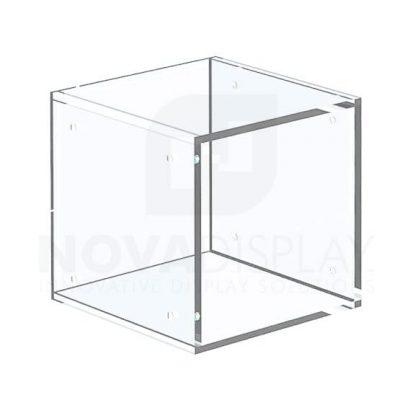 Non-Lit Acrylic Open Display Case – All Clear