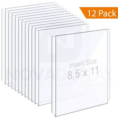1/8″ Clear Acrylic Easy Access Info/Poster Holder – Letter Format. Portrait Orientation