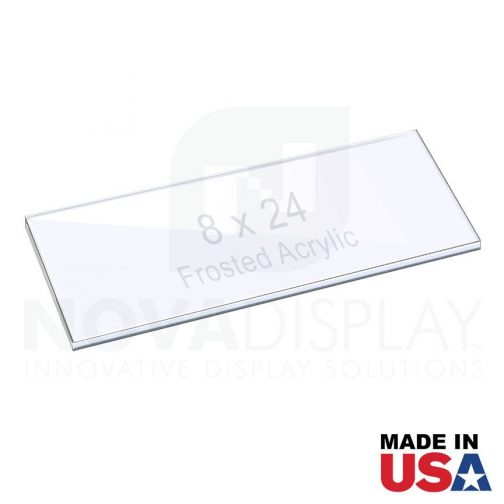 3/8″ (10mm) Frosted Acrylic Shelf with Laser-Cut Polished Edges
