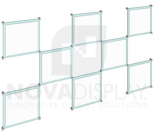 KASP-046 Sandwich Acrylic Poster Display Kit / Wall Mounted with Standoffs