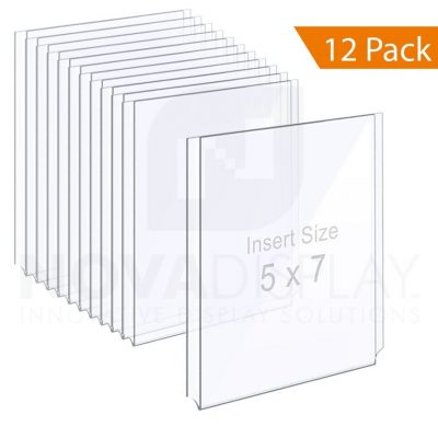 Clear Acrylic Easy Access Info/Poster Holder – Photo Format. Portrait Orientation