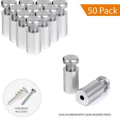 5/8″ Dia. x 1″ Economy Aluminum Sign Standoff (2-Part Standoff with M10 Stud-Cap)