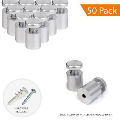 3/4″ Dia. x 3/4″ Economy Aluminum Sign Standoff (2-Part Standoff with M10 Stud-Cap)