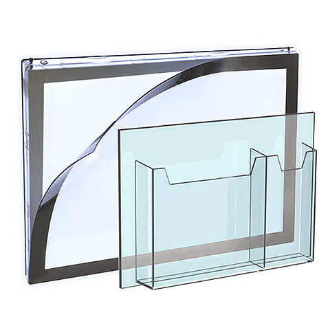 Acrylic Accessories for Cable/Rod Systems by Nova Display Systems