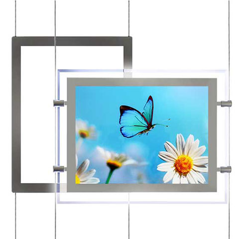 Nova Display Systems / Acrylic LED Window Displays for Cable Suspensions