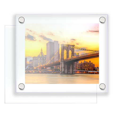 Nova Display Systems / Acrylic Poster Frames for Standoff Supports