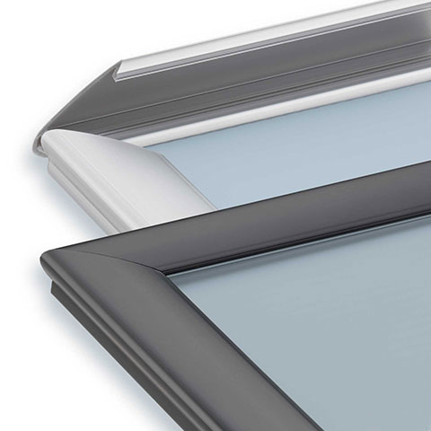 Nova Display Systems / Aluminum Poster Frames / Front-Load Snap Frame