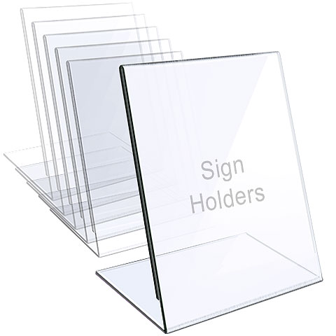 1/8″ Acrylic Sign Holder / Slant Back Display Easel