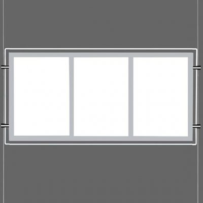 Backlit LED Display for Cables / Treble Pocket Letter Format Portrait Orientation