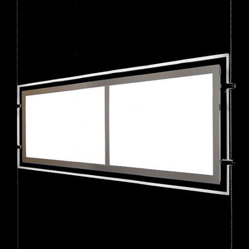 Backlit LED Display for Cables / Double Pocket Letter Format Landscape Orientation