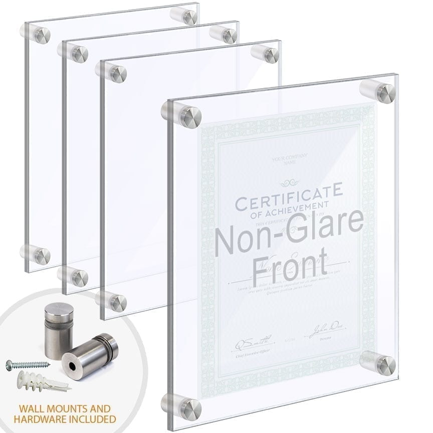 Wall Mounted/Floating Acrylic Frames with Standoffs