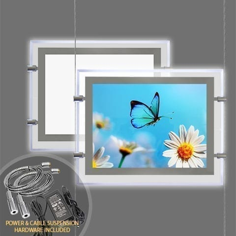 GLOW-EDGE LED BACKLIT WINDOW DISPLAY for Landscape Format Poster – PRODUCT BUNDLES