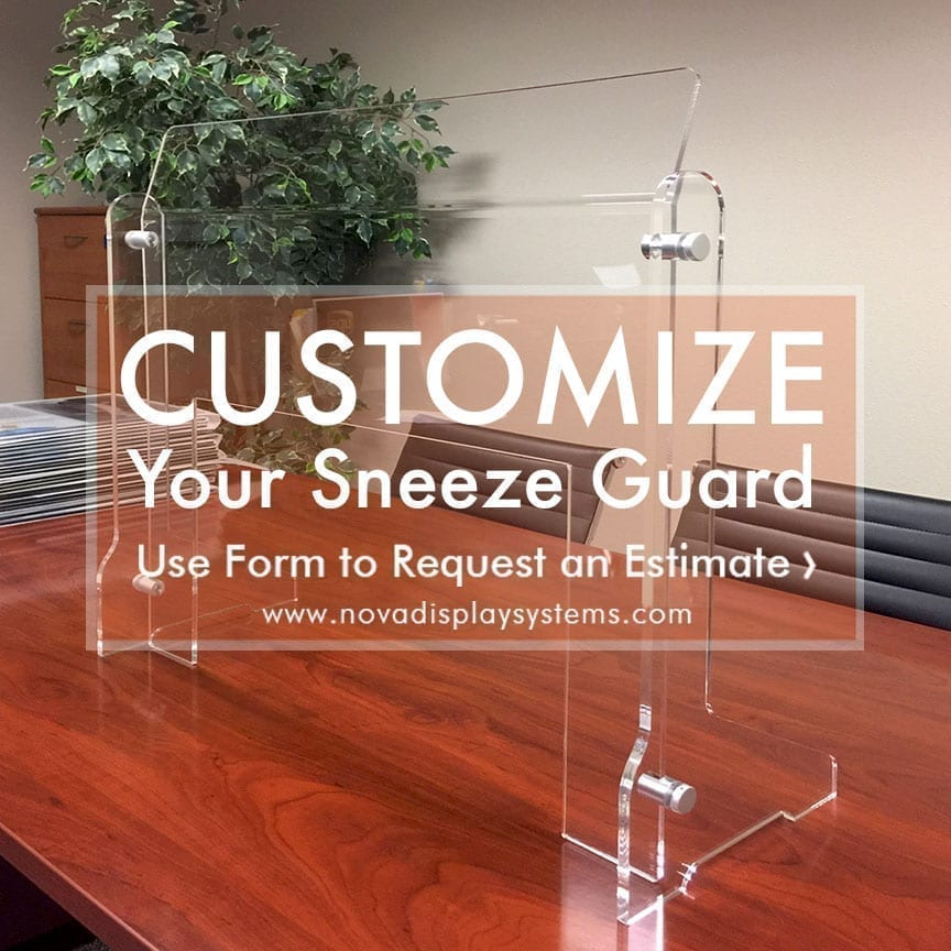 Custom Acrylic Sneeze Guards — Suspended, Freestanding, and Portable