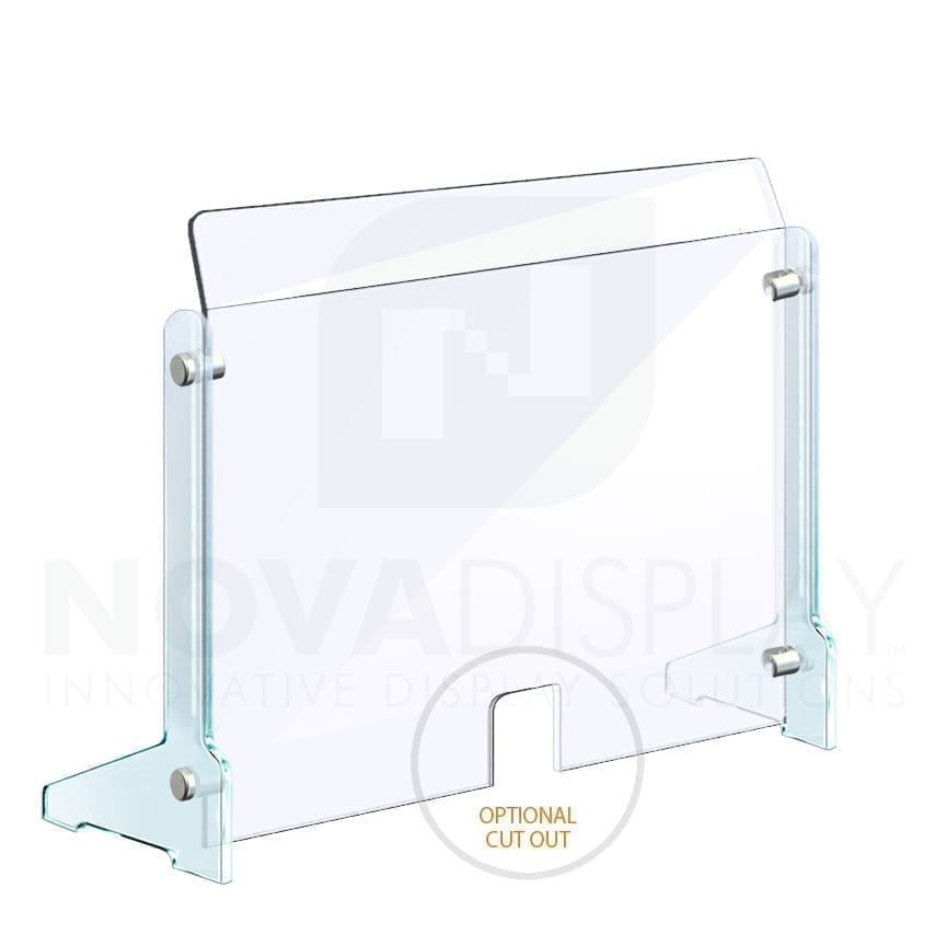 Countertop Acrylic Sneeze Guard / Modular – Supported with 3/8-1/2 in Thick Acrylic Side Legs / Free-standing