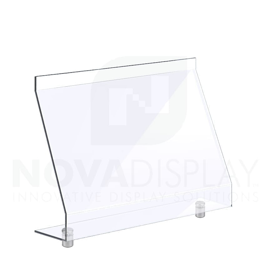 Countertop Acrylic Sneeze Guard / Modular – Mounted with Standoff Supports