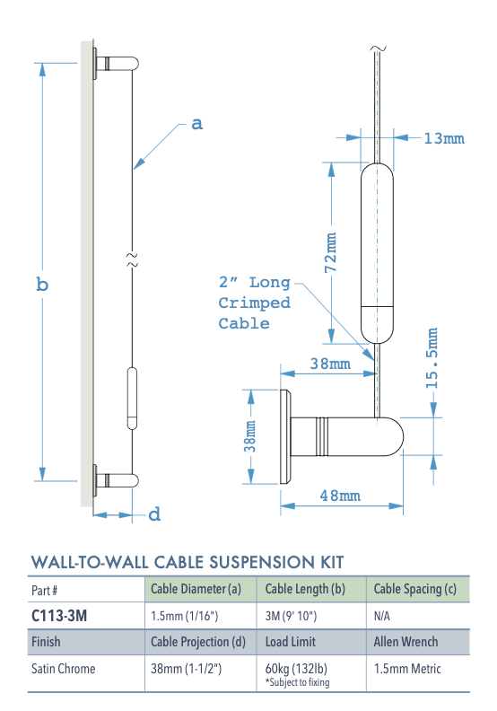 Specifications for C113-3M