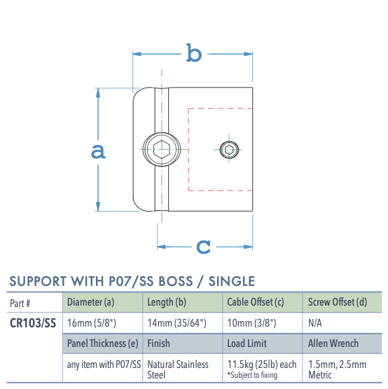 Specifications for CR103/SS